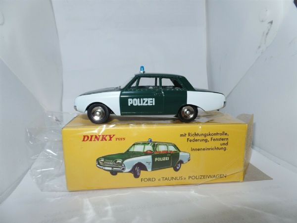Atlas French Dinky 551 FORD TAUNUS GERMAN POLICE CAR